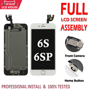 Complete LCD Full Set Assembly for iphone 6S Plus 6SP Display Screen for iPhone 6SPlus Replacement with Home Button+Front Camera
