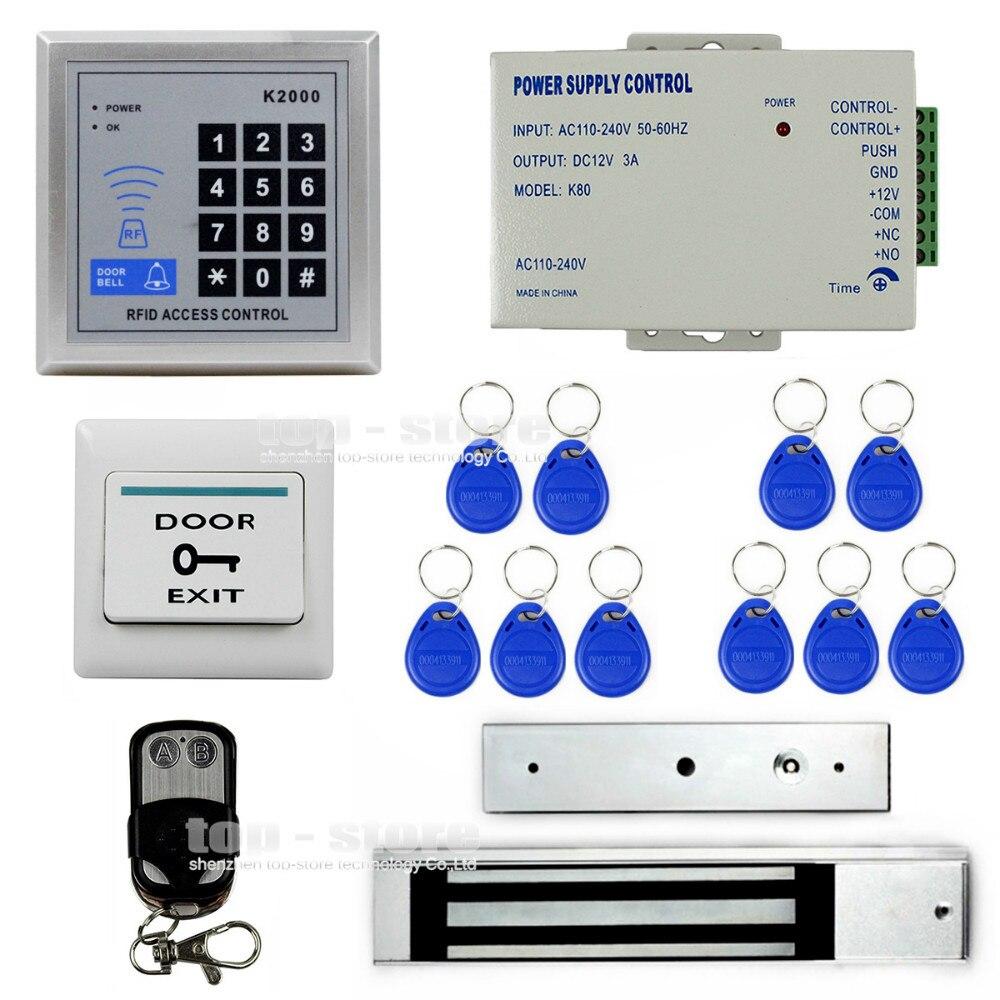 DIYSECUR 125KHz Rfid Card Reader Door Access Control Security System Kit + 280Kg Electric Magnetic Lock K2000