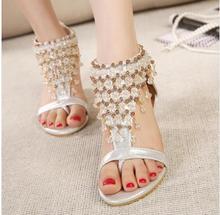 retail Flip-flop sandals flip women's shoes flat flats bohemia flower beaded soft outsole sweet
