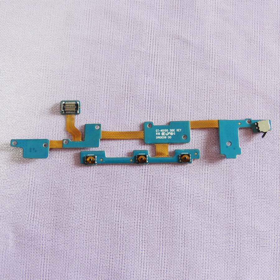 100PC Volume Power ON/OFF Button key Flex Cable Ribbon For Samsung Galaxy Note 8.0 N5100 N5110 N5120 Control switch microphone