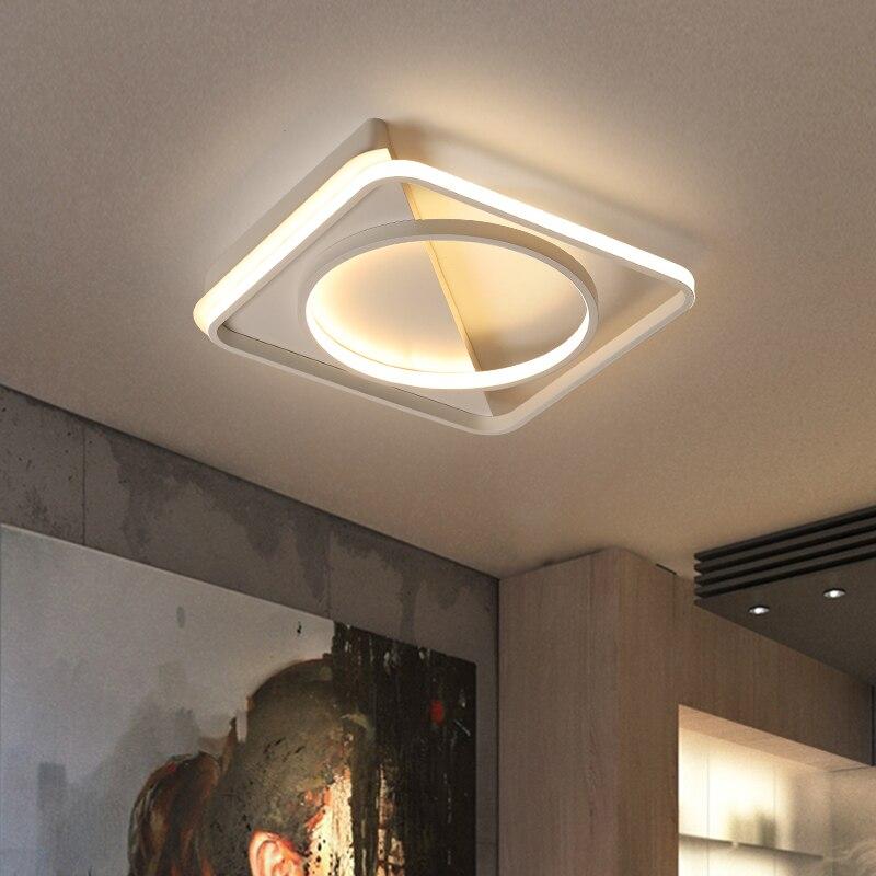 Nwe Modern Led Ceiling Lights for Bedroom Living room hallway Surface mounted black white square circle Lustre Ceiling lamp