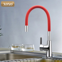 XOXO 360 New Arrival 7-color Silica Gel Nose Any Direction Rotation Kitchen Faucet Cold and Hot Water Mixer 1301R