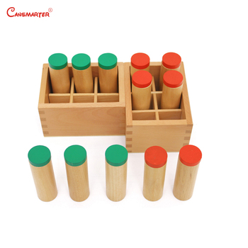 Beech Wood Montessori Sensory Wooden Toys Sound Boxs Teaching Aids Children Preschool Educational Toys Sensorial Maths