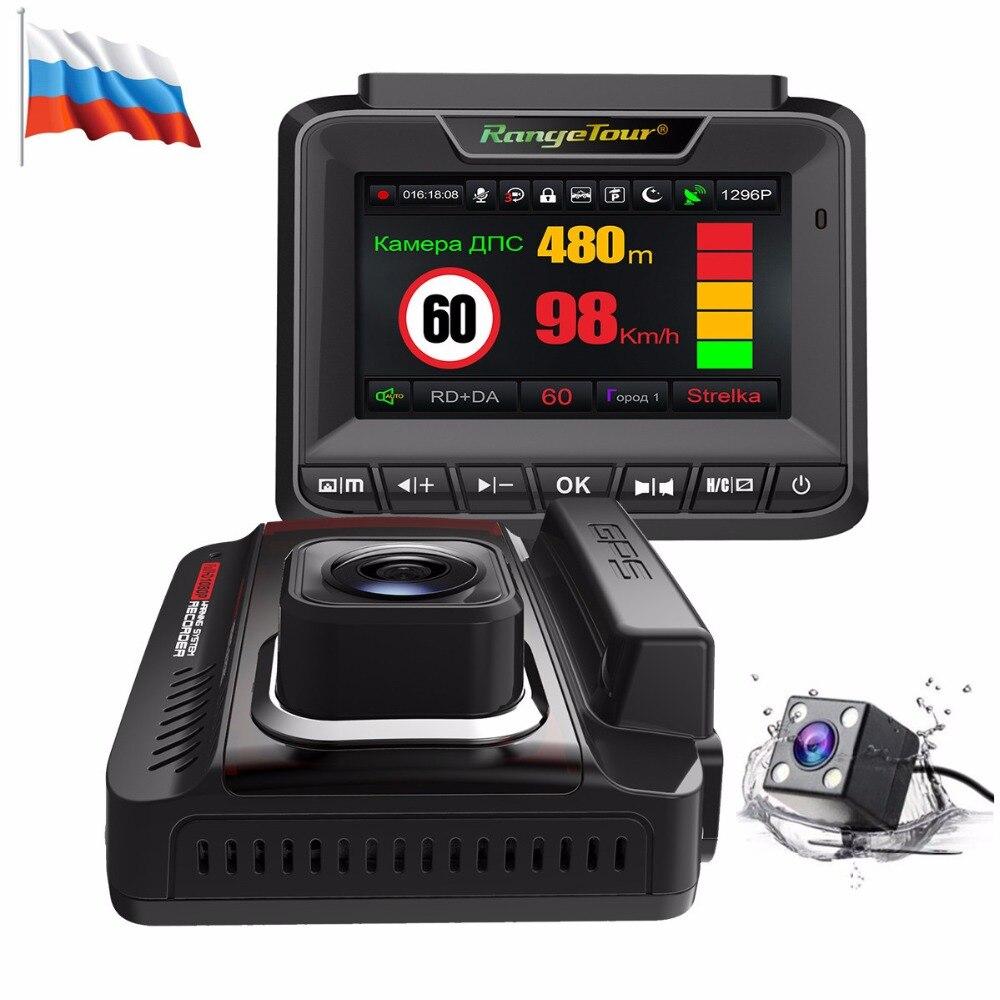 Neue Auto DVR Radar Detektor GPS Dash Cam 1296 p Video Recorder Dual Objektiv Auto Kamera 3 in 1 Auto detektor Auto Kanzler Anti Radar