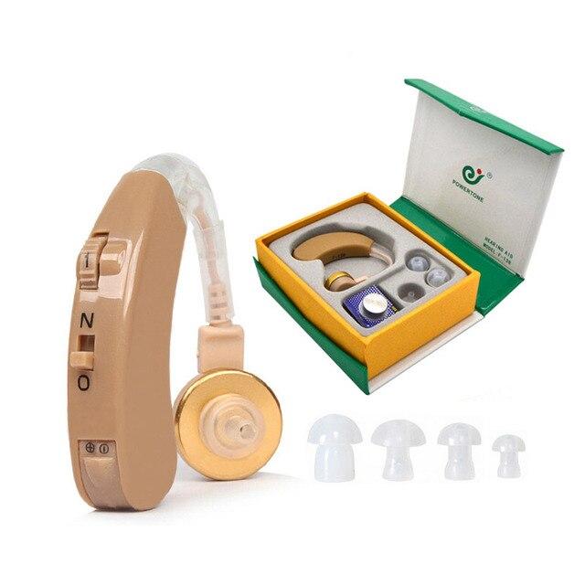 Bte aparelho auditivo amplificador de som voz axon F 138 aparelhos auditivos atrás da orelha ajustável cuidados de saúde