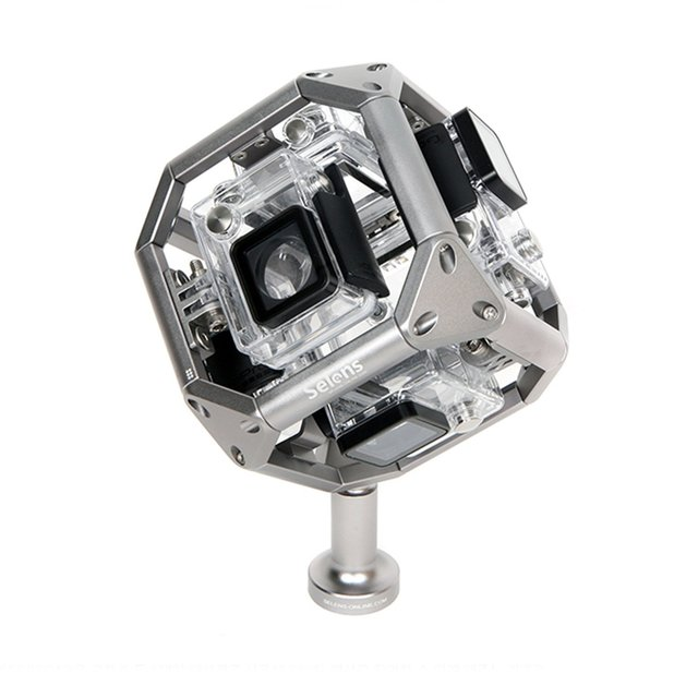 Selens Waterproof 720 Degree VR Spherical Panorama Frame Mount Video Holder Case for Gopro 3 3+ 4 5 Xiaoyi Xiaomi Camera F18089