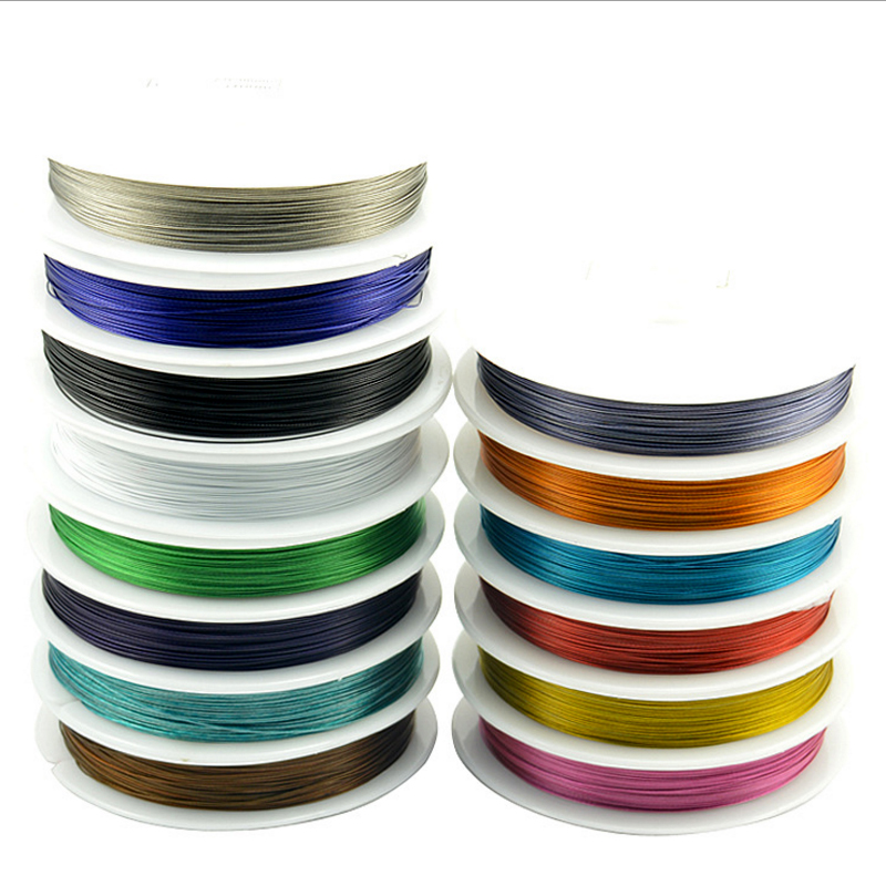 Steel Wire 0.38mm 0.45mm 50meters Long Never Fade Fine Wire Line Diy Handmade Beaded Jewelry Accessories Wire Line Wholesale