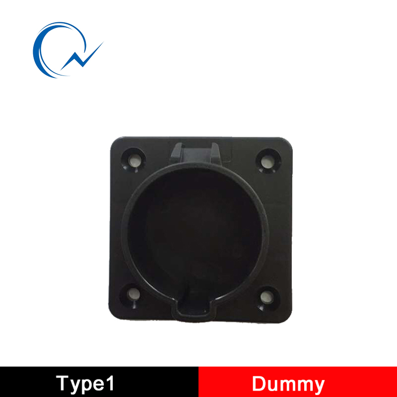 SAE <font><b>J1772</b></font> Type1 AC Dummy Socket Holder For EV Charger Station level 1 level 2 US holder connector image