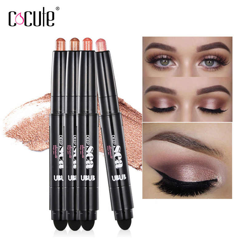2 in 1 Colors Makeup Eyeshadow Waterproof Glitter eyeshadow Stick Make Up Eye Shadow Shimmer Long-Lasting Eyeshadows Cosmetics