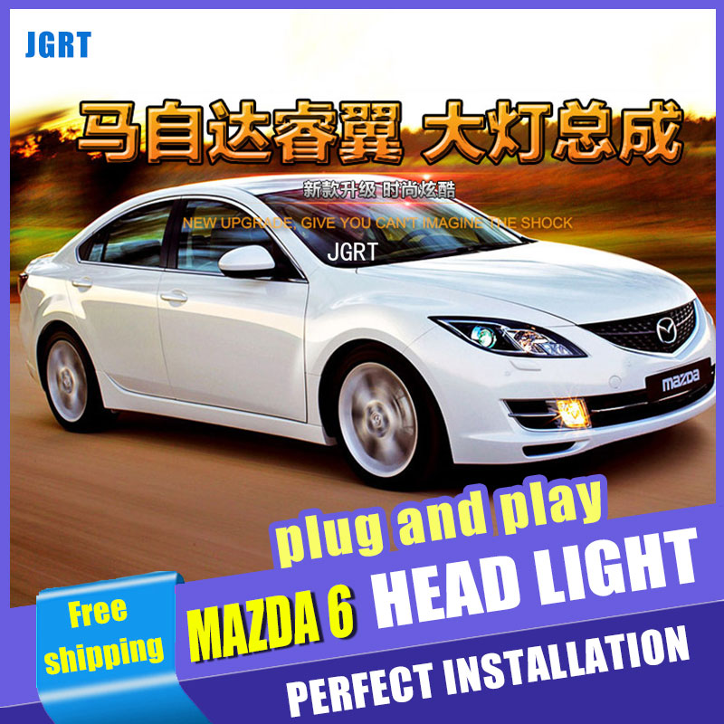 Car Styling For Mazda 6 headlight assembly 09-14 For Mazda 6 LED head lamp Angel eye led DRL front light h7 with hid kit 2pcs. oil pump for e cosport mondo mazda 3 mazda 6 oem 1s7z 6600aa l310 14 100a l310 14 100d l310 14 100j