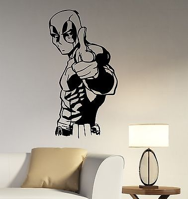 Deadpool Wall Decal Vinyl Sticker Comics Superhero Art Home Kids Room Decor Home Decoration DIY Mural E599