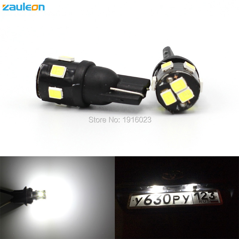 2pcs W5W LED T10 2835 Car bulb 168 194 Turn Signal License Plate Light Trunk Clearance Reading lamp 12V White