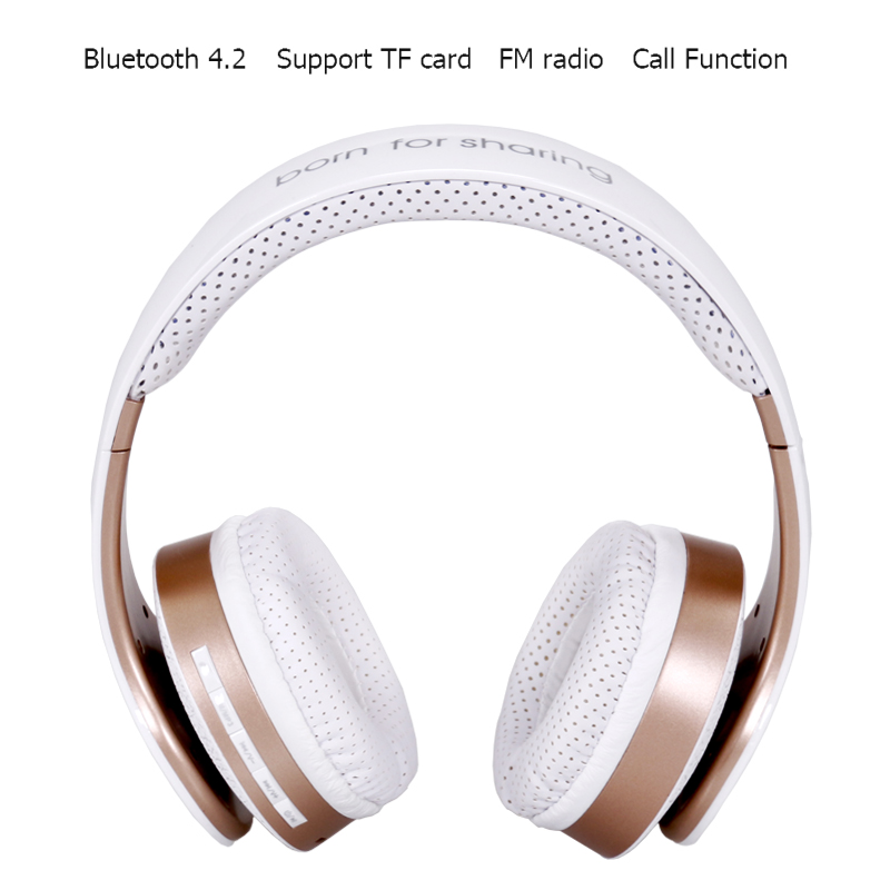Original JKR 212B Wireless Bluetooth Headphones Stereo Music Headset with Mic TF FM Radio Headphone Earphone for Smart PC gift