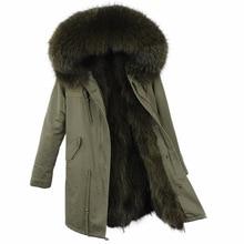 Casual Vintage Long Womens Winter Jacket Women Coat Jackets Natural Raccoon Fur Parka Real Fur Parkas Vintage Warm Thick Coats