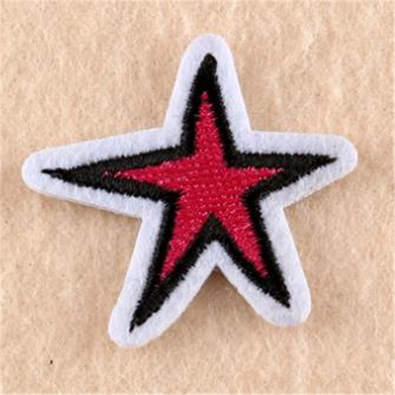 WomenMenKids clothes Diy embroidery biker patch cute star deal with it Iron on patches for clothing 3d stickers free shipping