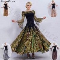 custom woman New Morden Dancing Dress Show Large Skirt standard ballroom dresses waltz