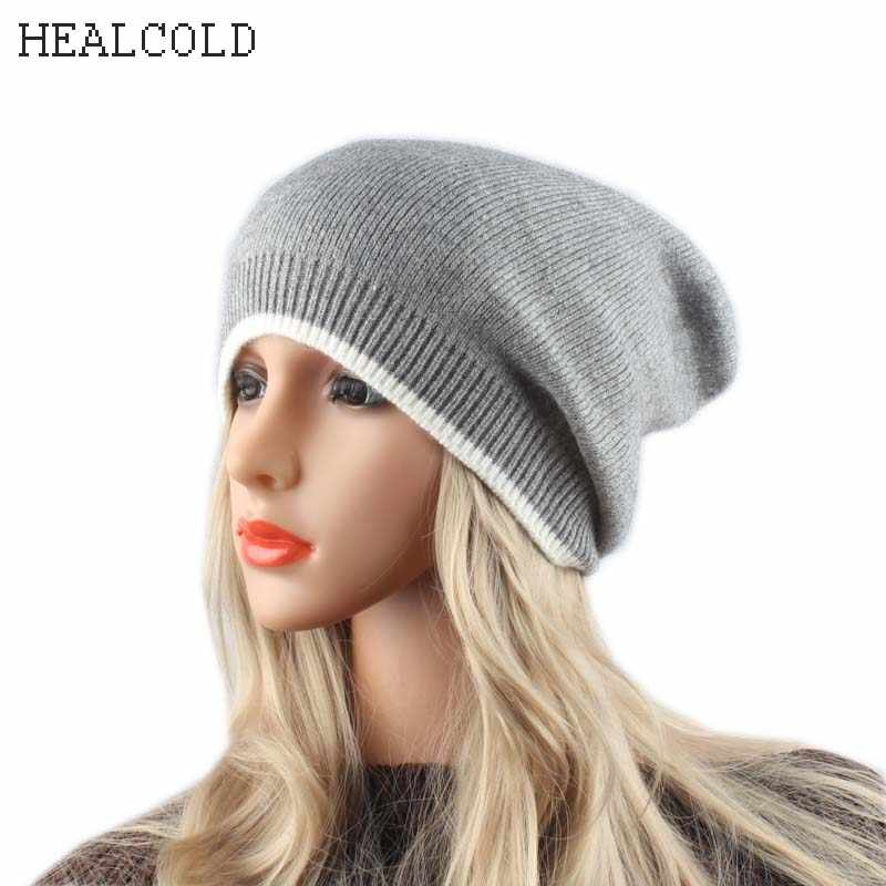 12a15b6aba7 autumn spring ladies skullies beanies patchwork knitted hats for women  cashmere wool slouchy beanie gorros