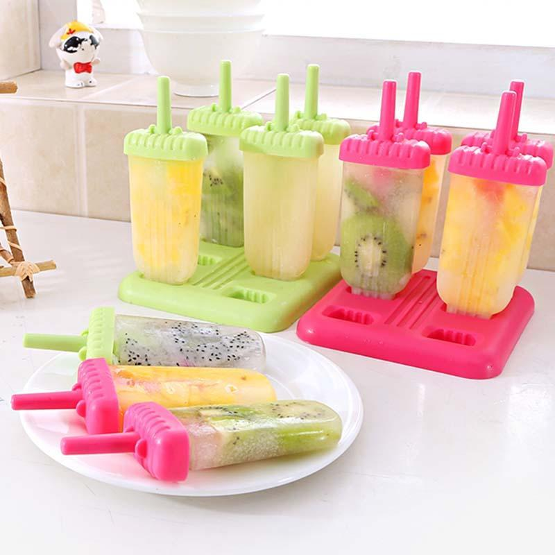 Diy Creative Pop Ice Mold Different Shape Frozen Use Cream Bars Lolly Mould Icecream Tubs Eco-Friendly Rectangle Shaped A30