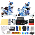 Solong Tattoo Pro Tattoo Kit 2 Rorary Tattoo Machine Gun Power Supply 1 Practice Skin Dual-sided Re-usable One Set TK202-41