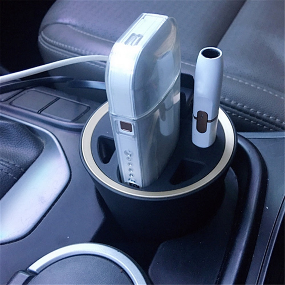 ABS Ashtray Design Multifunctional Charging Charger Hub for IQOS 2.4 IQOS 2.4 plus Universal Car Charger for iphone Samsung Lg hc 04 universal car swivel mount w car charger for iphone htc samsung more black