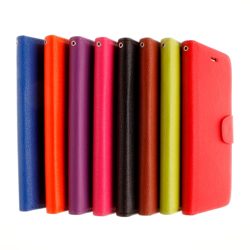 db94a558607 Para el iPhone 7 7 más 5S se 6 6 s más cubierta del teléfono Litchi grano  cartera Funda de cuero para iPhone 8 8 más 7 7 más