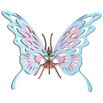DIY Butterfly Toy for Children/Young Man Learning & Education 3D Handmade Woodcraft Assembly Kit Jigsaw Puzzle Toy Gift/ Present 3d dragon woodcraft construction kit diy dragon wooden puzzle game assembly toy gift for children adult children