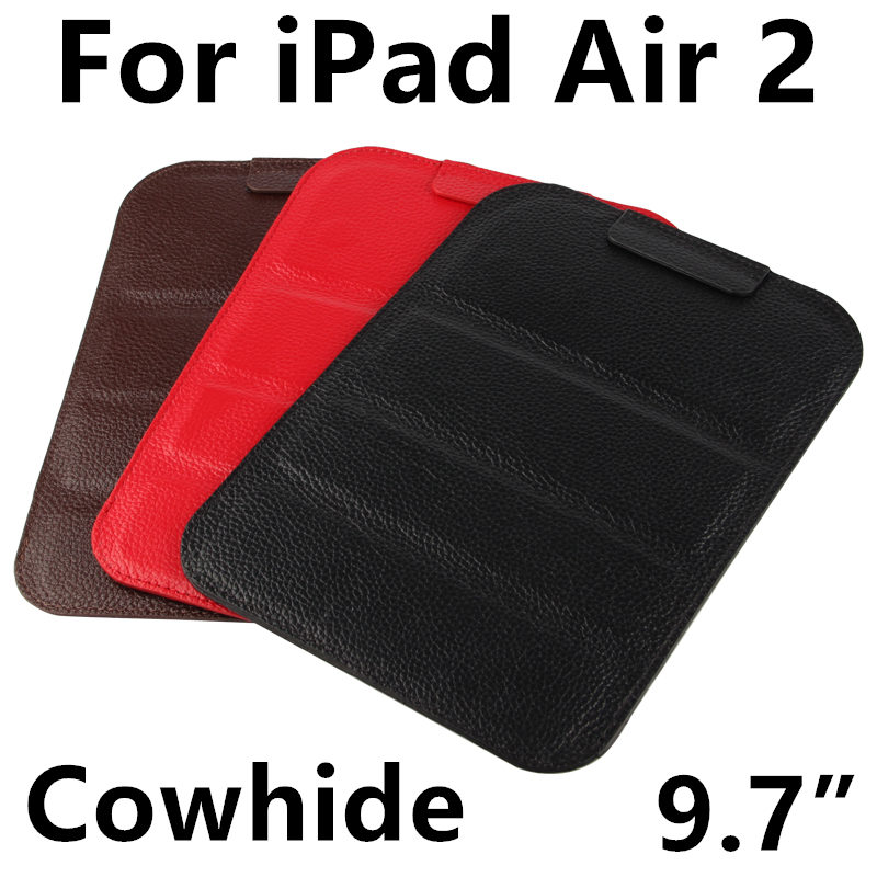 Case Cowhide Sleeve For iPad Air 2 Tablet PC Protective Smart cover Protector Genuine Leather For Apple iPad6 Cases 9.7 inch