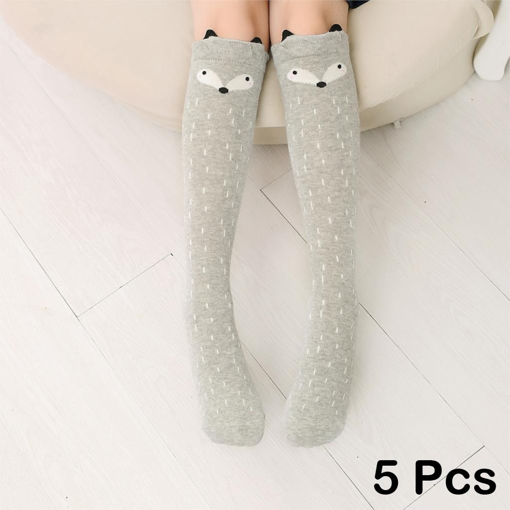 5-Pair-Cute-Cartoon-Socks-For-Children-Long-Knees-Print-Animal-Long-Knee-Socks-Cotton-Kid-Socks-Fox-Socks-Toddler-Girl-Meias-V20-5