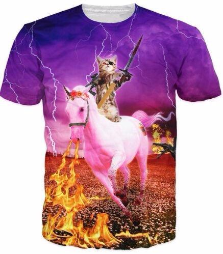 Gordura branca cat nebula galaxy 3d imprimir t-shirt dos homens das  mulheres topos espaço gatinho tshirt animais tees t shirt clothing pizza  gatos roupas 358e69454c533