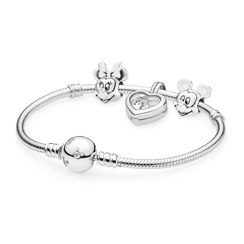 лучшая цена EDELL 100% 925 Sterling Silver Mi and Mi locket Bracelet Set fit DIY Original charm Bracelets jewelry A set of prices