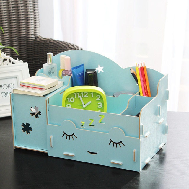 Aliexpresscom Buy Beautiful Woman Wood Diy Makeup Organizer M