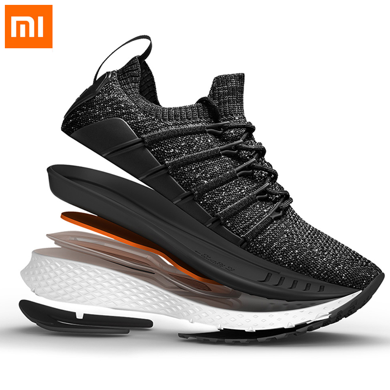 Xiaomi Mijia 2 Men Smart Sneaker Running Shoes Shock absorbing Fishbone Lock System Elastic Knitting Vamp Fashion Sports Shoes-in Smart Remote Control from Consumer Electronics    1
