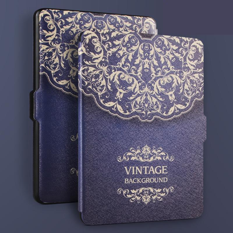 Case di lusso per kindle paperwhite 3 2 1 pu leather case per amazon kindle paperwhite e-reader
