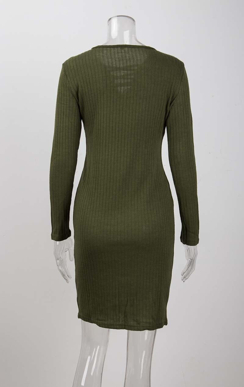 19 Autumn Knitted Dress Women Long Sweater Dress Female Sweaters Ladies Long Sleeve Sweater Winter Bandage Long Sweater Women 14