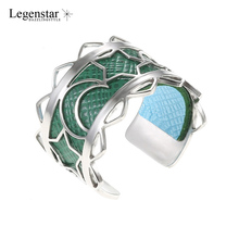 Legenstar Open Resizable Rings For Women Fashion Creative Reversible Leather Bague femme Stainless Steel Star Moon Ring Anillos