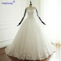 Best Seller List China Wedding Dresses Luxury Long Sleeve Lace Wedding Dress O Neck Pearls Royal