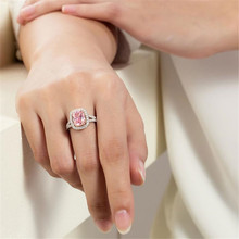 2018 BFQ Women's Extravagant Square Diamond Rings S925 Sterling Silver Weddings /Party  Fine jewelry Ring