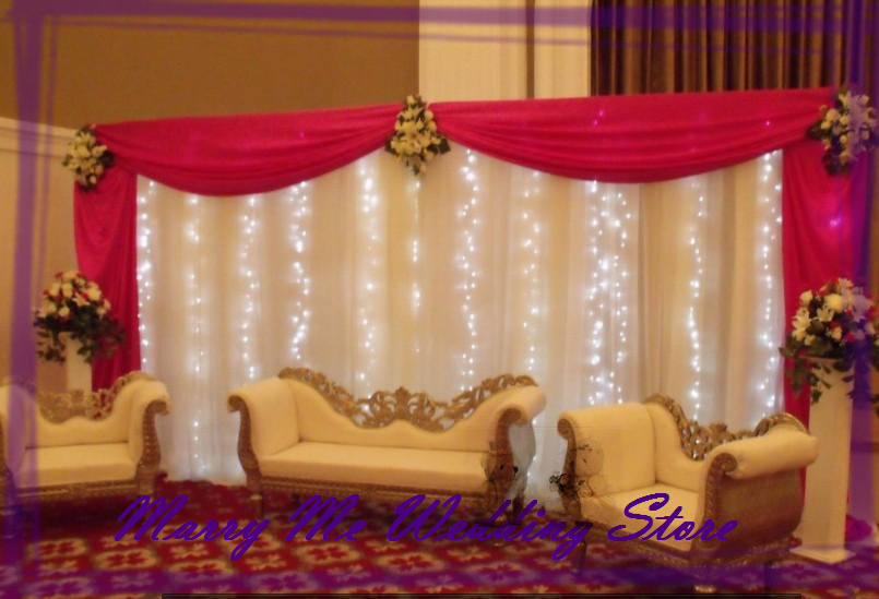 3m X 6m Beautiful Wedding Backdrops Curtain With Detachable Swag Party Decoration Background Free Shipping In From Home Garden On