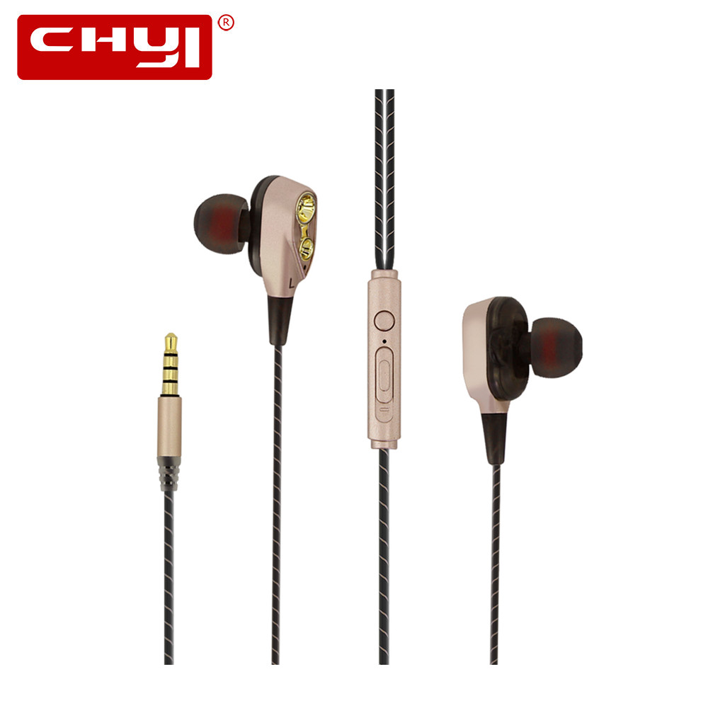 CHYI Original Cheap Earphone In-ear Earphone Headset Hifi Earbuds Bass Earphones High Quality Ear Phones For Phone image