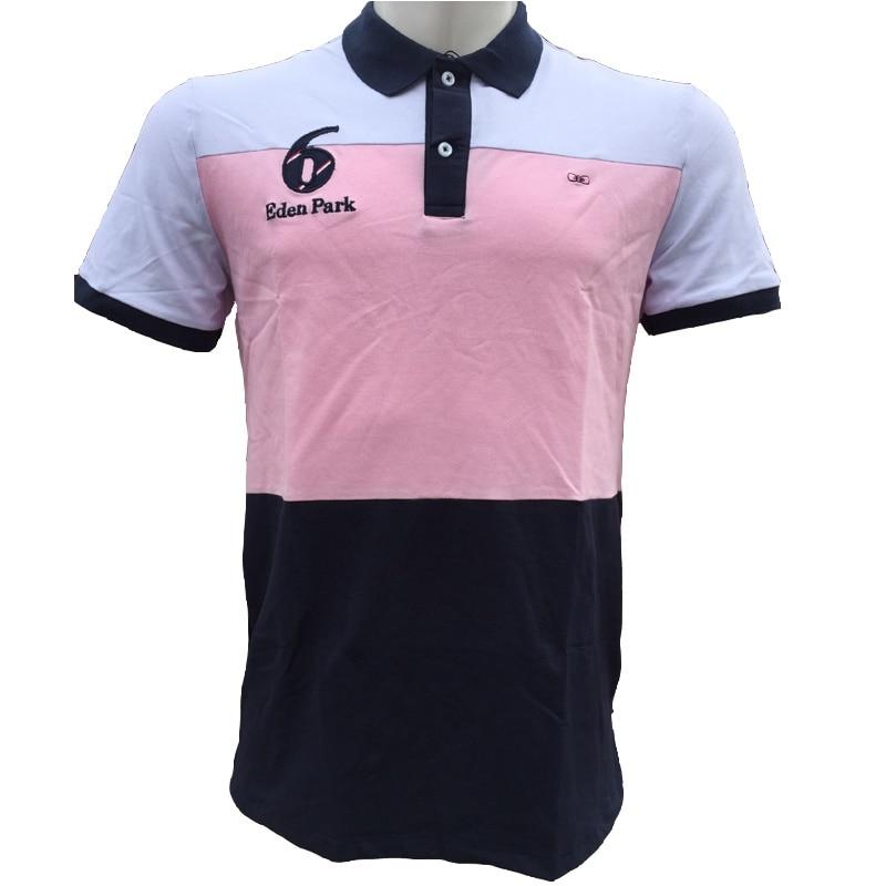 New Pink Eden park 2019 Hot Men's   Polo   Shirt Men's Top Desiger   Polos   Men Cotton Short Sleeve shirt Clothes jersey Size M-XXL