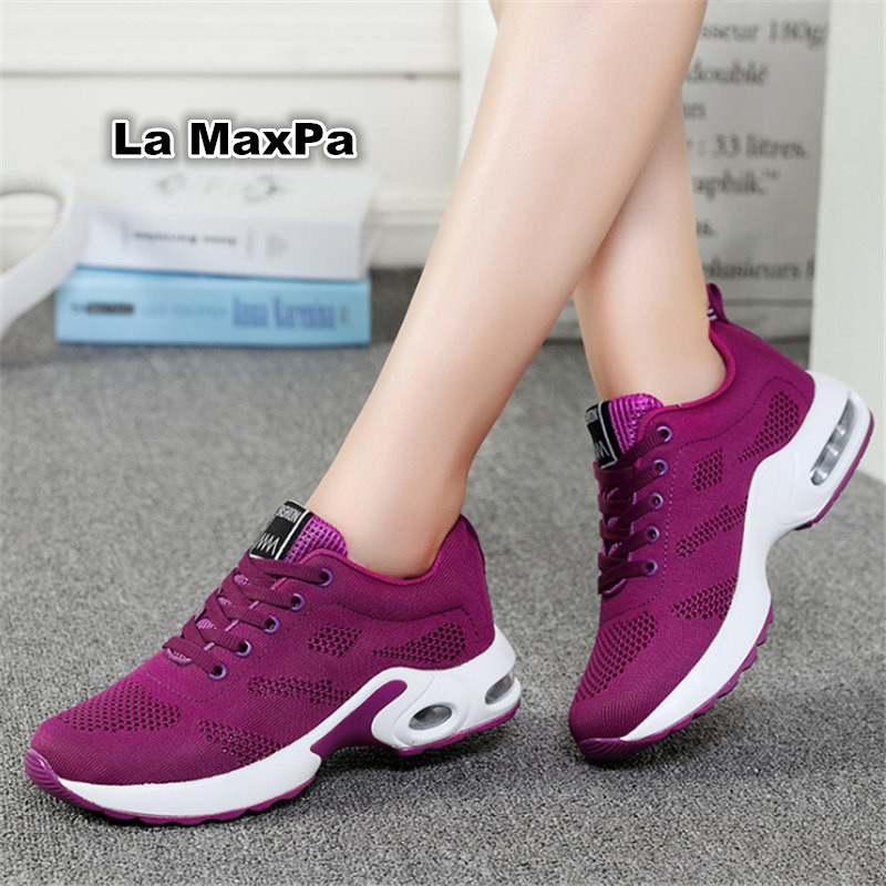 four seasons sneakers women running shoes for women mesh sport shoes woman Air damping a ...