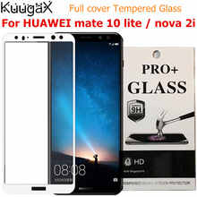 ФОТО for huawei mate 10 lite nova 2i full cover tempered glass screen protective 9h smartphone case toughened black white gold blue
