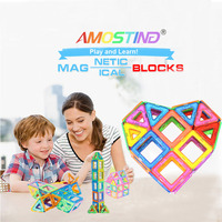 Children Toy Bricks56pcs Magnetic Building Toys 3D Magnetic Tiles Diy Building Block Gift Toys