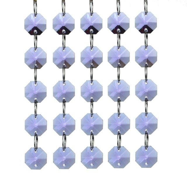 Purple Crystal Pendant For Chandelier Home Decor Car Window Hanging Parts Festival Gift Diy Accessories