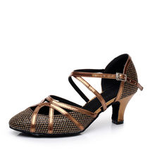 Ballroom Shoes Latin Dance Shoes Woman Screen Gold Color Sequins Soft bottom Jazz Adult Aerobics Dancing Sneakers Coupons QJ1005