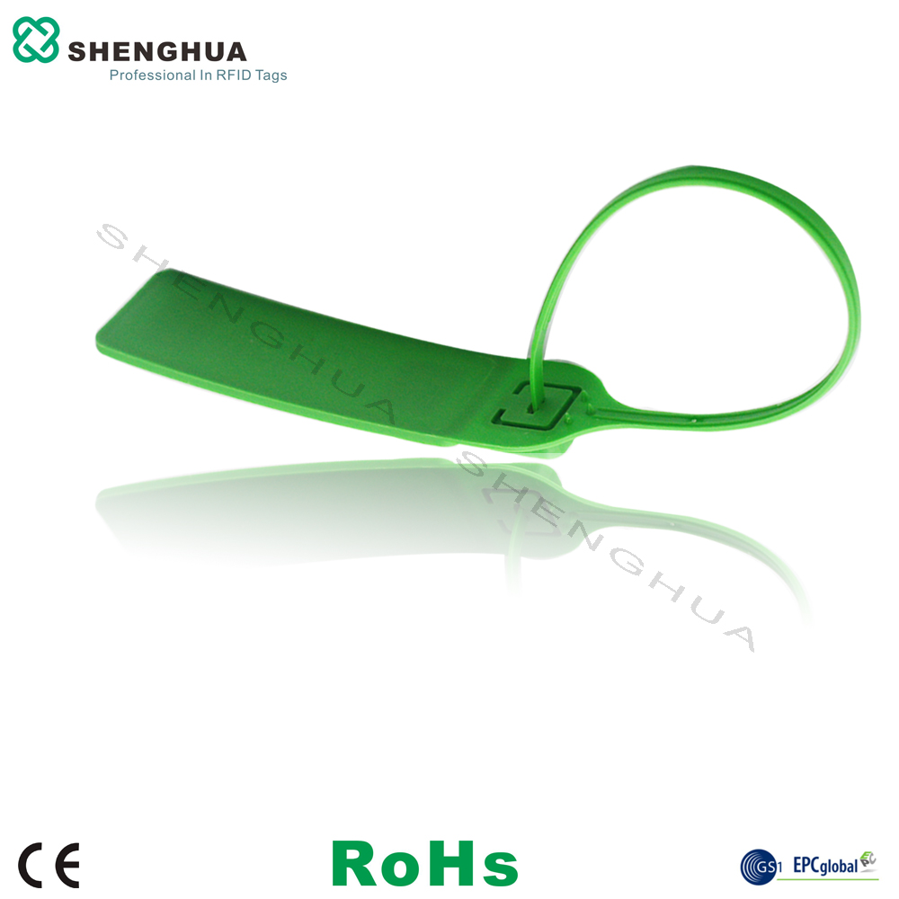 10pcs/pack Custom Writable Wire Plastic Zip RFID Cable Seal Tie Tag Factory Price One Time Use E-locker Rfid Tracking Sticker