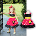 Toddler Girl Sleeveless Minnie Dress Summer Baby Girls Cartoon Mouse Chiffon Dresses vetement enfant Children's Clothing