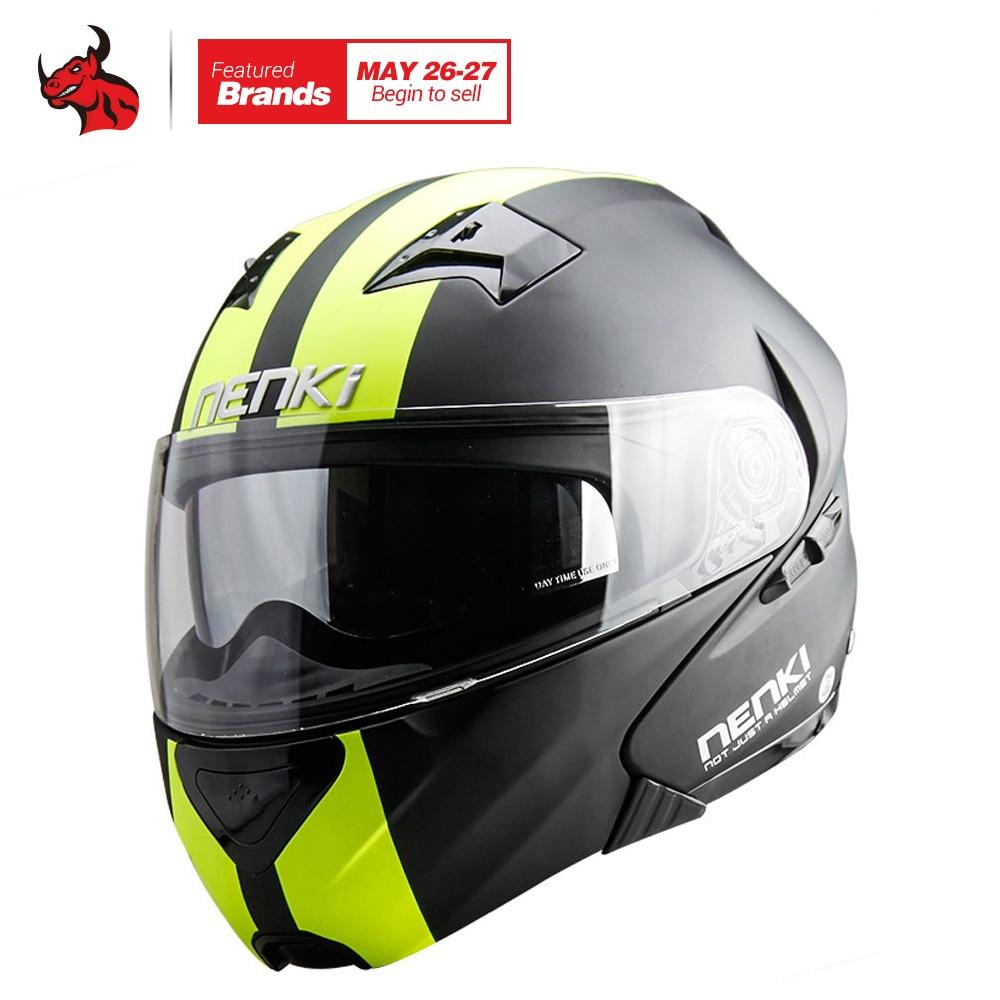 NENKI DOT Motorcycle Helmet Flip Up Helmet Open Face Men's Moto Helmet Capacetes De Motociclista Dirt Bike Helmet Casque Moto