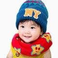 Bebé rojo de Cuello Bufanda Niños Niñas Pañuelo Niños Otoño Invierno Bufandas de Moda Niños Diseño de la Estrella Bufandas Bufanda de Cuello Rojo Del Bebé