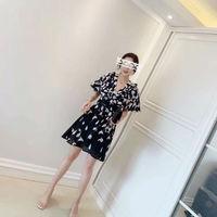 2019 New Black Sexy Elegant Silk Summer Dress Women High Waist Bandage Casual Party Free Shipping